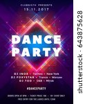 dance party poster vector... | Shutterstock .eps vector #643875628