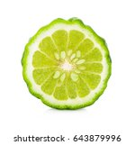 a half of bergamot fruit... | Shutterstock . vector #643879996