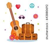 hippie objects design | Shutterstock .eps vector #643880692