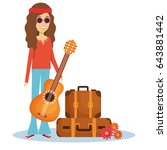hippie people design | Shutterstock .eps vector #643881442