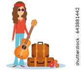 hippie people design | Shutterstock .eps vector #643881442