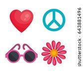 hippie objects design | Shutterstock .eps vector #643881496