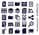 file icons set. set of 25 file... | Shutterstock .eps vector #643884226