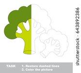 vegetable green broccoli. dot... | Shutterstock .eps vector #643892386