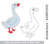 farm goose to be traced only of ... | Shutterstock .eps vector #643892542
