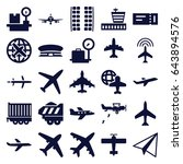 plane icons set. set of 25... | Shutterstock .eps vector #643894576