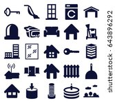 home icons set. set of 25 home... | Shutterstock .eps vector #643896292