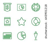 icons set. set of 9 outline...