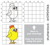 copy the picture using grid... | Shutterstock .eps vector #643904566