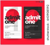 admit one ticket template with... | Shutterstock .eps vector #643908592