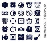 set of 25 countdown filled... | Shutterstock .eps vector #643909942