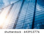 clouds reflected in windows of... | Shutterstock . vector #643913776