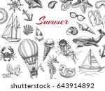 vector illustration sketch ... | Shutterstock .eps vector #643914892
