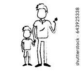 figure father with his son... | Shutterstock .eps vector #643925338