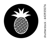 pineapple fresh fruit icon | Shutterstock .eps vector #643935076