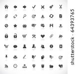 set of 49 high quality web and... | Shutterstock .eps vector #64393765