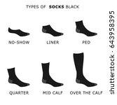 socks black   Shutterstock .eps vector #643958395