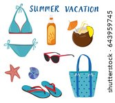 summer vacation. time to travel.... | Shutterstock .eps vector #643959745