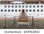 cruise boarding entrance... | Shutterstock . vector #643962832
