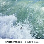 Sea Surf Great Wave Break On...