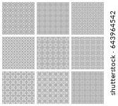 seamless geometric line... | Shutterstock .eps vector #643964542