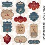 grunge vintage label set | Shutterstock .eps vector #64397029