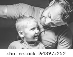 man with a child  the happy | Shutterstock . vector #643975252