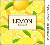 square label on citrus lemons... | Shutterstock .eps vector #643977652