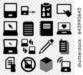 notebook icons set. set of 16... | Shutterstock .eps vector #643990645