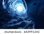 Ice Cave In Iceland Blue Glacier