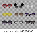 a collection of trendy glasses  ... | Shutterstock .eps vector #643994665