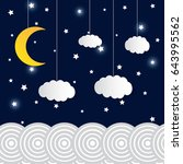 vector night sky background... | Shutterstock .eps vector #643995562