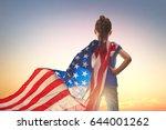 patriotic holiday. happy kid ... | Shutterstock . vector #644001262