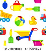 seamless pattern children's... | Shutterstock .eps vector #644004826