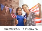 patriotic holiday. happy family ... | Shutterstock . vector #644006776