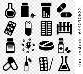 pharmaceutical icons set. set... | Shutterstock .eps vector #644010832