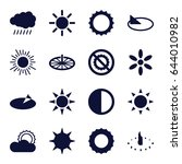 sunlight icons set. set of 16... | Shutterstock .eps vector #644010982