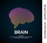 vector logo brain color... | Shutterstock .eps vector #644012926