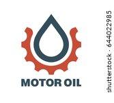 motor oil logo. drop lubricant... | Shutterstock .eps vector #644022985