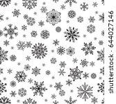 snowflake vector seamless... | Shutterstock .eps vector #644027146