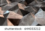 abstract 3d low poly background ... | Shutterstock . vector #644033212