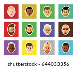 icon of faces  on white... | Shutterstock .eps vector #644033356