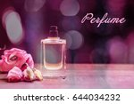 bottle of perfume and text on... | Shutterstock . vector #644034232