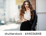 Fashion Long Hair Woman With...