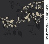 floral background  birds  ... | Shutterstock . vector #644043346