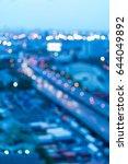 night blurred bokeh light city