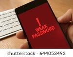 hand with smartphone  and... | Shutterstock . vector #644053492