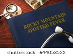 book with title rocky mountain... | Shutterstock . vector #644053522