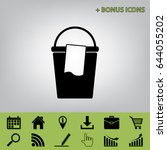 bucket and a rag sign. vector....   Shutterstock .eps vector #644055202