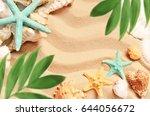summer beach | Shutterstock . vector #644056672